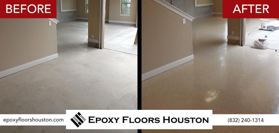 Residential epoxy garage flooring prices for Flooring houston