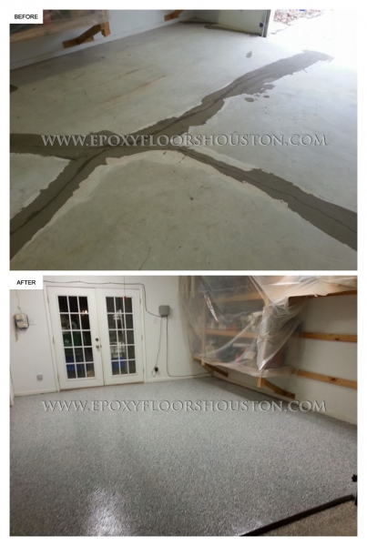 Epoxy Before And After : Epoxy garage before and after