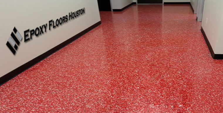 Red Epoxy Floor in a Commercial Setting