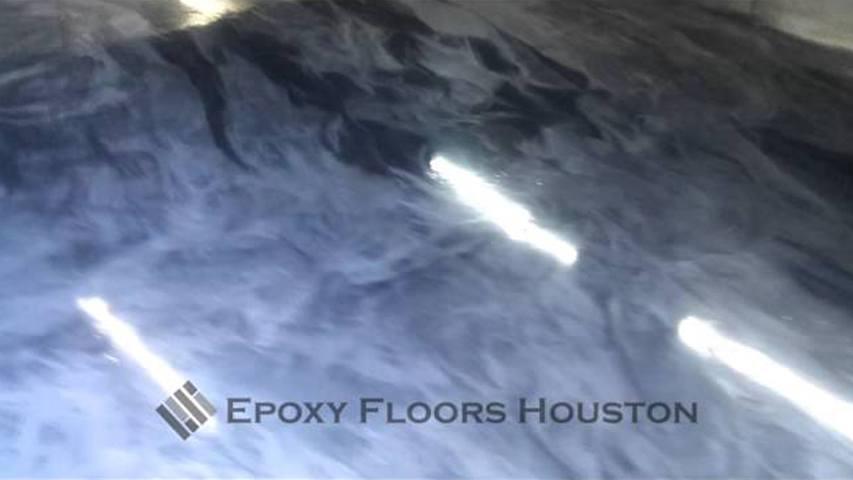 Commercial Epoxy Metallic Floor in Houston, Texas